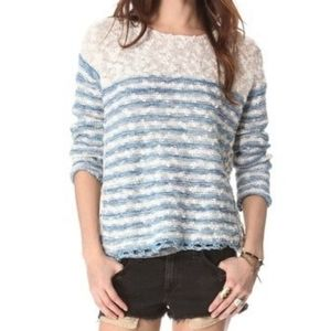 Free people french creek pullover sweater SZ L